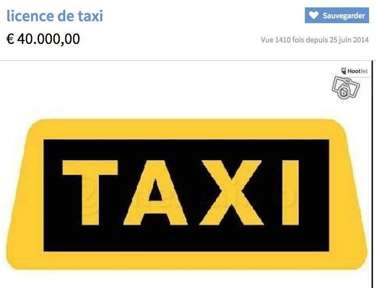 Taxis, je vous ai compris !